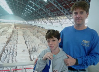 Our first school trip took us to Xi'an and the famous terra cotta warriors.
