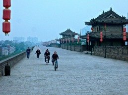 The high walls surrounding Xi'an.