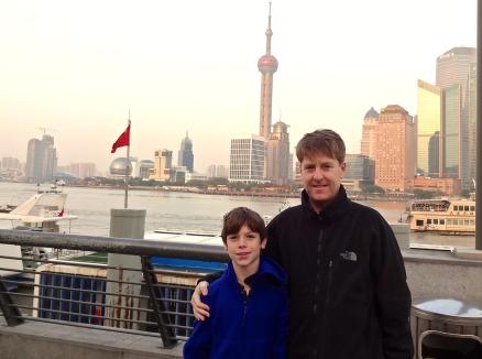 Alex & Kevin at the Bund