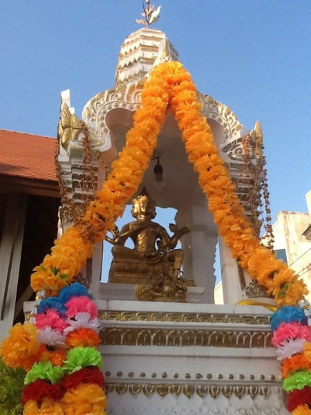 A buddhist shrine outside our hotel.