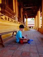 Getting Zen in Laos.