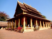 The central wat in the Si Saket temple complex in Vientiane, Laos
