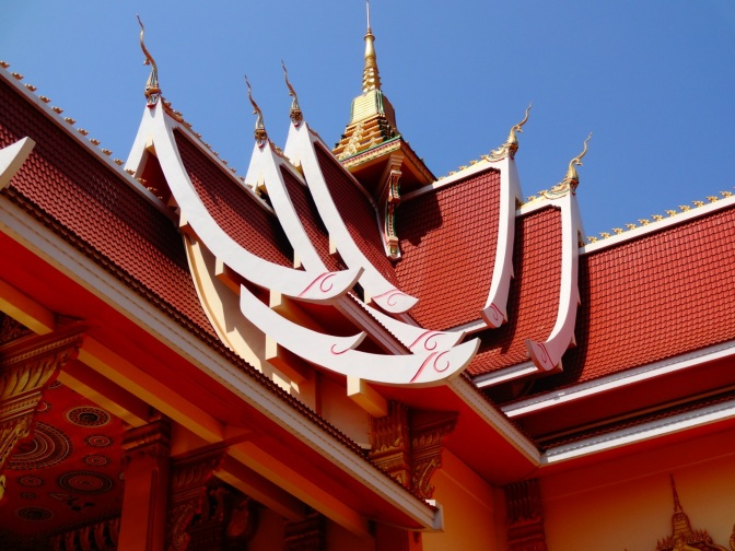 Wat roof in Laos