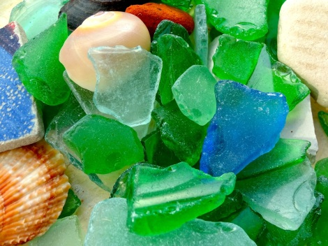 Collected from the Yellow Sea, trash becomes part of a collection.