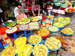 Just before the Tet holiday, the markets were crammed with everything you can imagine.