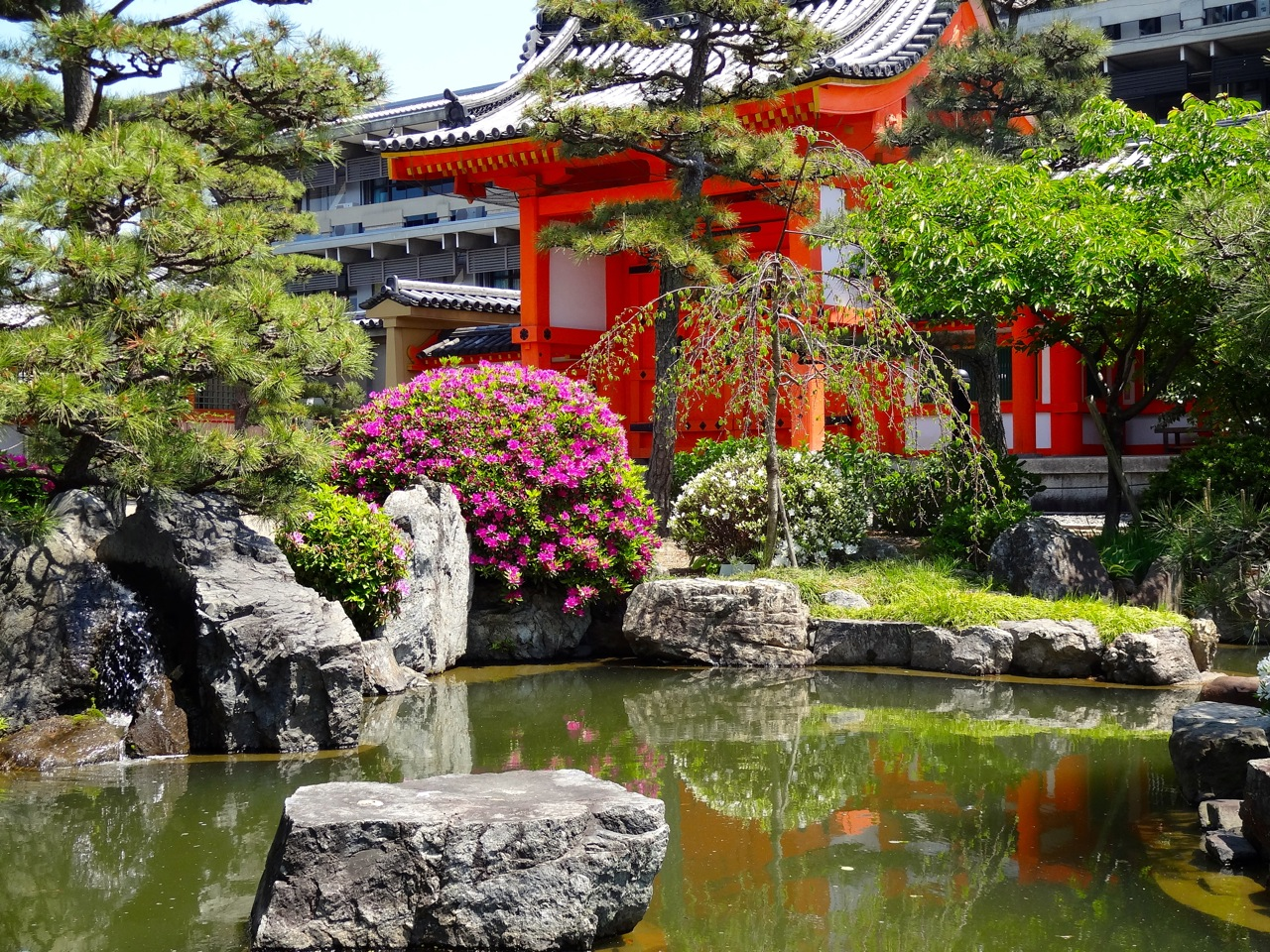 The art of the zen garden travel the world over for Koi water garden