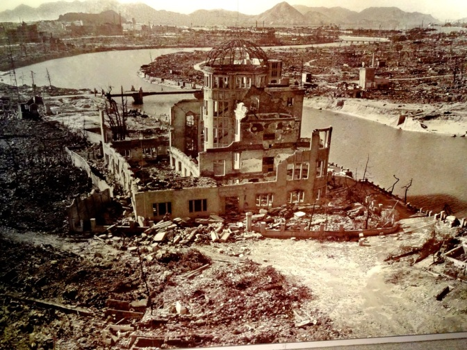 Taken months after the bomb dropped, the A-Bomb Dome was originally slated to be razed to erase the reminder of the damage done to the city.