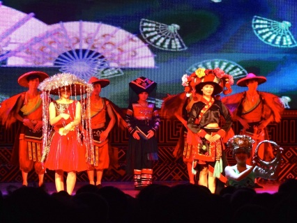 Unlike much of China, the southern portion of China has a wide range of diversity of people. In Guilin, local shows feature the variety of dance, music and customs of this part of China.
