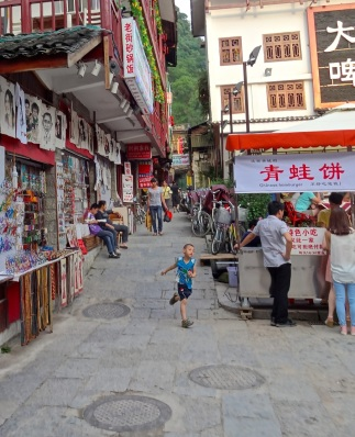 The streets of Yangshuo are narrow with many pedestrian only-which in China only means less cars and scooters to dodge.