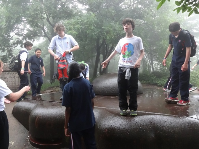 Alex and a group of boys explore the iron-top lookouts on the best preserved battery from the German occupation of Qingdao before and during the Great War. May they rust in peace.