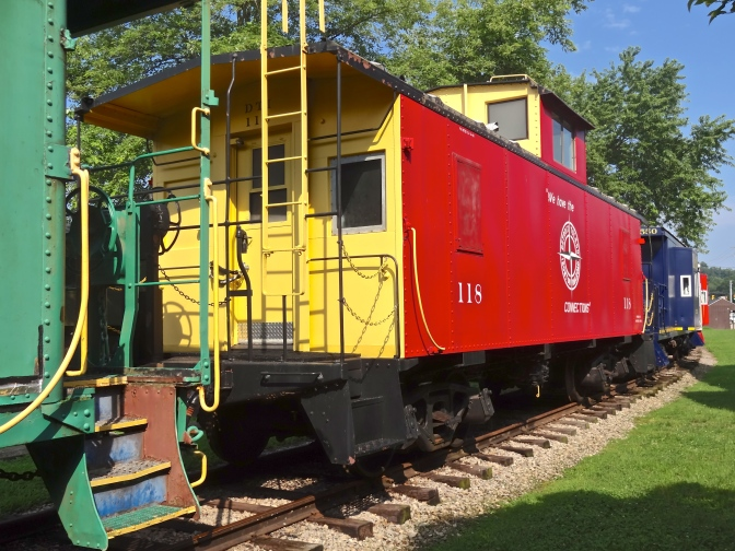 Little red caboose brings up the rear naturally on the only surviving passenger service in Ohio-albeit a scenic roundtrip for fun and nostalgia not transportation.