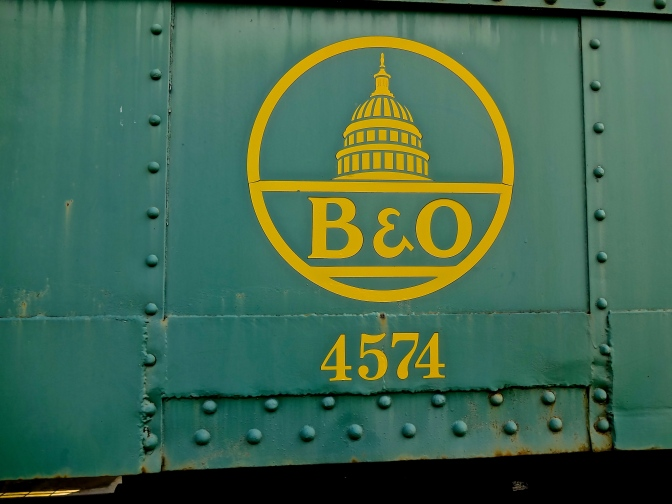 Baltimore and Ohio, with a logo featuring the dome of the US Capitol Building was established in 1827, and is one of the oldest railroads in the country.  During its peak, the line extended from Staten Island to Illinois.  Today the surviving lines are mostly operated by CSX Railroad and used for hauling freight over people.