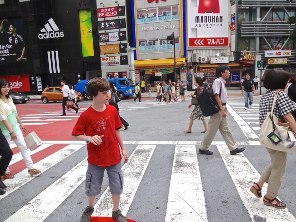 Despite being one of the mostly densely-populated cities in the world, Tokyo feels safe for pedestrians and skateboarding teens alike.