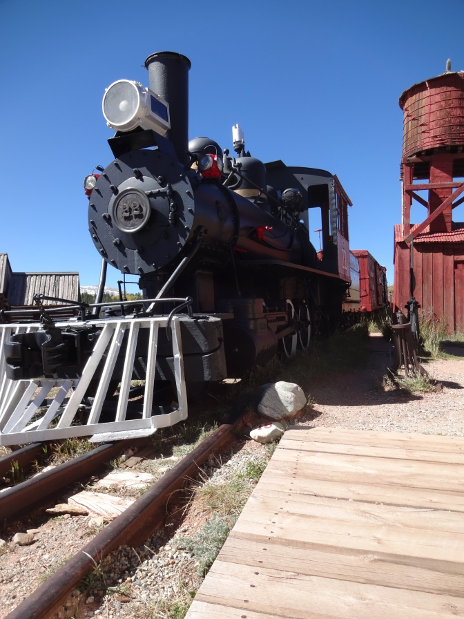 Built in Denver just before the first World War, this 1914 Porter Mogul narrow gauge locomotive was used by the Denver South Park and Pacific Railroad for both passengers and cargo.
