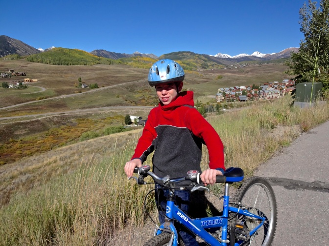 At close to 10,000 feet, Crested Butte reminds those from sea level that biking and hiking at this altitude requires patience and a reasonable pace.  Local stores sell altitude potions designed to help newcomers  to the 'nosebleed' heights acclimate sooner.