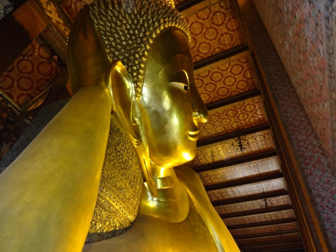 Wat Pho is located behind the Temple of the Emerald Buddha and a must-do for any  visitor to Bangkok. It's one of the largest temple complexes in the city and famed for its giant reclining Buddha that measures 46 meters long and is covered in gold leaf.