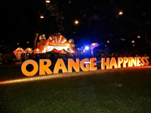 Orange Happiness, for whatever reason, was the theme last New Year's Eve in lovely Hua Hin, Thailand.