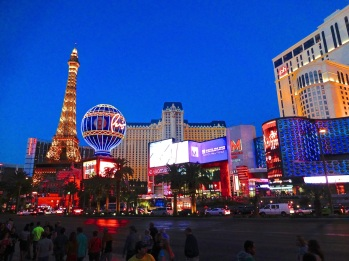 The splendors of Paris share just a city block in the condensed version along the Las Vegas strip.